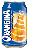 Orangina can 33cl.