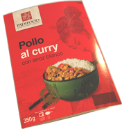 Pollo al curry con arroz blanco 350 gramos